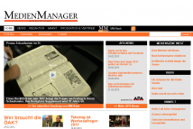 Screenshot von der Website www.medienmanager.at