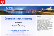 Screenshot von der Website www.juristentag.at