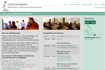 Screenshot von der Website ww.juristenverband.at